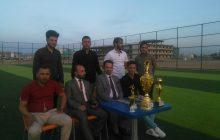 بطولة لكرة القدم لطلبة اقسامها العلمية