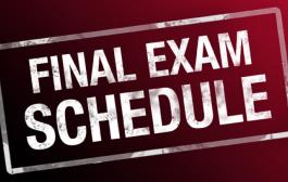 جدول الامتحانات النهائية لكافة الاقسام