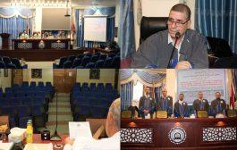 مناقشة رسالة الماجستير في كلية العلوم.. علي جواد عبد العالي